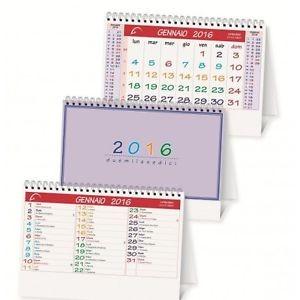 Calendario da tavolo triangolare doppia faccia spiralato 2016 - 19x14 - rosso