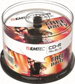 CD-R 700MB - 80min 52X CAKE BOX - 50CD