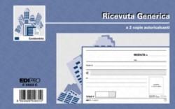 BLOCCO RICEVUTA GENERICA, 50PAGINE PER 2 COPIE, AUTORICALCANTE - PREZZO SINGOLO, ORD. MINIMO 10PZ