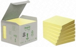 POST-IT 654-1B RICICLATO (76x76mm) GIALLO 100FOGLI - 6PZ