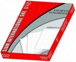 ETICHETTE BIANCHE ADESIVE SENZA MARGINI - 100 FOGLI, 200 ETICHETTE (210x148,5mm)