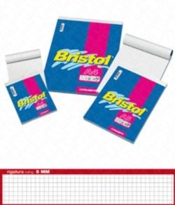 BLOCCO BRISTOL - BLOCCO A PUNTO METALLICO FORMATO A4, 70 FOGLI CON RIGATURA 5mm, CARTA 50gr, COPERTINA PATINATA 115gr E CARTONCINO POSTERIORE 600gr - PREZZO SINGOLO, ORD. MINIMO 10PZ