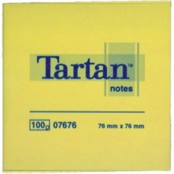 TARTAN 7676 BLOCCO GIALLO CANARY (76x76mm) 100FOGLI - 6 PZ