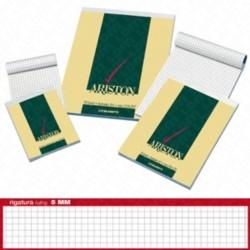 BLOCCO ARISTON - BLOCCO A PUNTO METALLICO FORMATO A5, 70 FOGLI CON RIGATURA 5mm, CARTA 60gr, COPERTINA GOFFRATA 170gr - PREZZO SINGOLO, ORD. MINIMO 10PZ