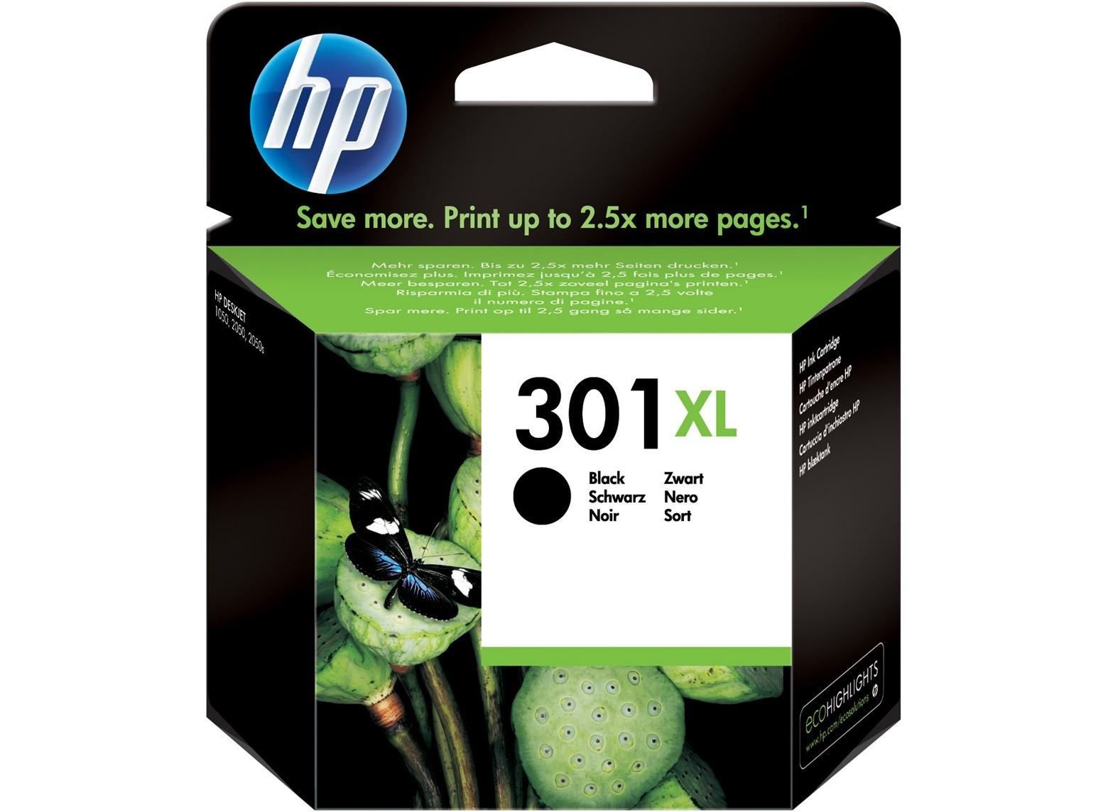 Cartuccia originale inchiostro nero ad alta capacità HP 301XL