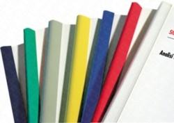 DORSINI RILEGAFOGLI (11mm) - ADATTI A RILEGARE 70/75 FOGLI, COLORE ROSSO - 30PZ